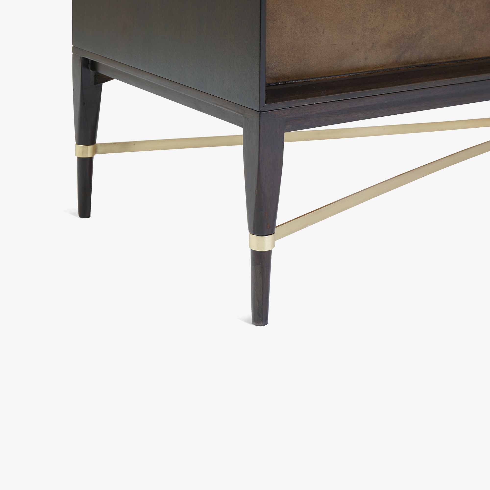 Walnut & Brass Cross Stretcher Credenza by Paul McCobb for Calvin Group9.png