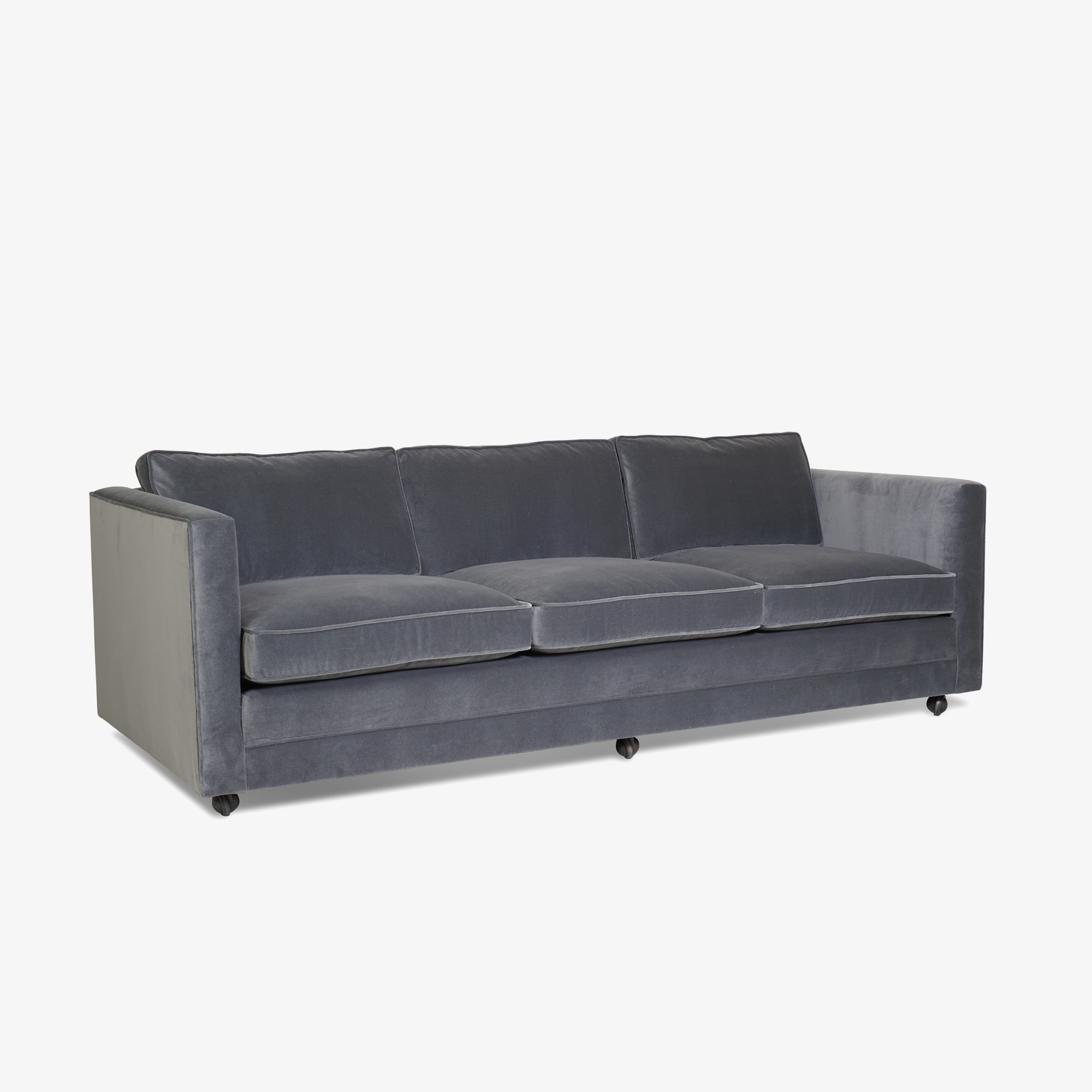 Mid-Century Three Seat Sofa in Grey Performance Velvet2.png