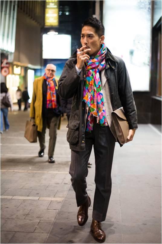 Taka en     Barbour     et écharpe multicolore     Liverano