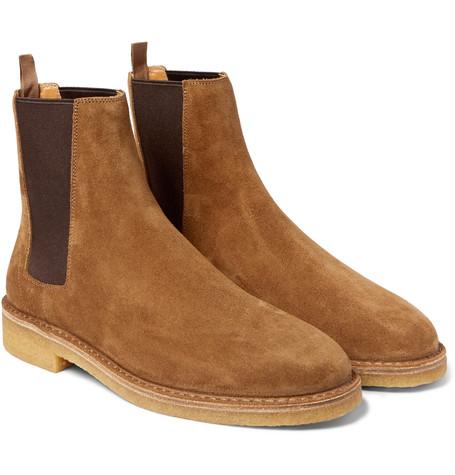 saint laurent boots suede