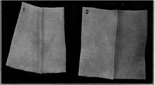 Coutures invisibles : 2 possibilités de coutures