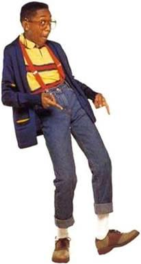 C'est vous qui voyez, mais dans l'imaginaire collectif, bretelles + jean taille (trop) haute + lunettes trop grandes = Steve Urkel