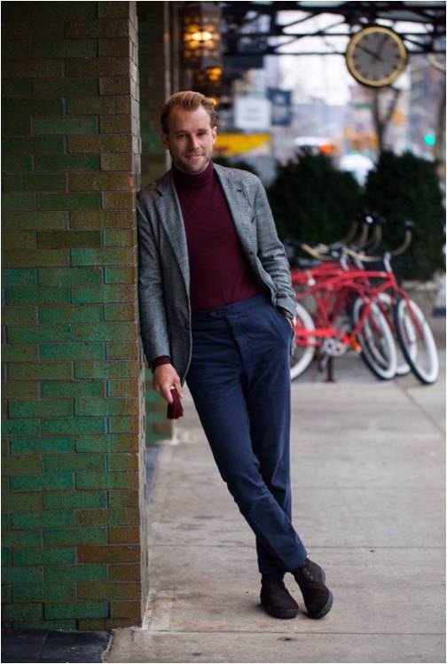 Patrick Johnson : une tenue parfaite réalisée sans ceinture