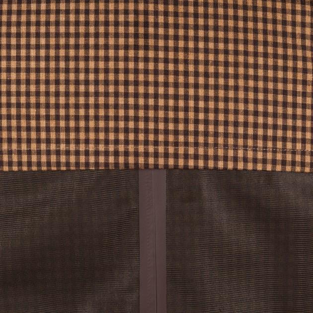 Coutures étanches : propre, beau et fonctionnel On perçoit aussi la membrane imperméable qui recouvre le tissu : il s'agit de la partie qui brille