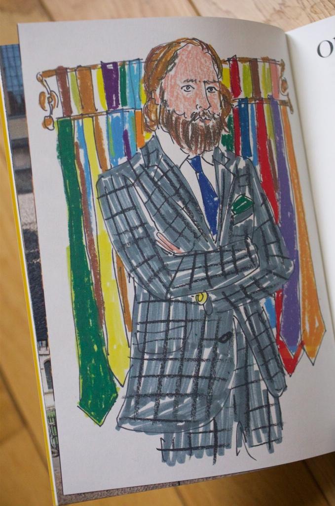 Illustration réalisée par Luke Edward Hall de David Coggins pour le magazine Common Thread