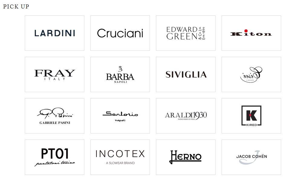 Quelques marques peu connues, et d'autres rendues plus visible en France grâce aux e-commerces européens : Herno, Jacob Cohën, Incotex…