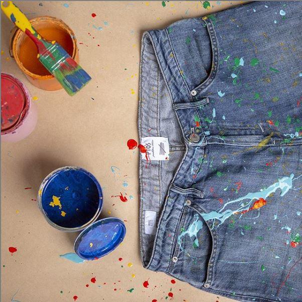 PT01 Pantaloni - peinture à la main