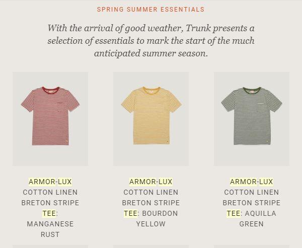 Pour porter autre chose que du bleu marine ! Le jaune et le vert ne sont malheureusement plus disponible sur le e-shop de la marque