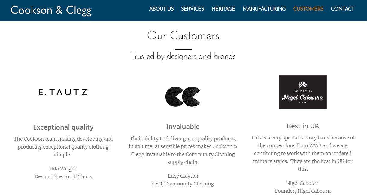 Les clients de Cookson & Clegg - Nigel Cabourn en fait parti, du très bon !