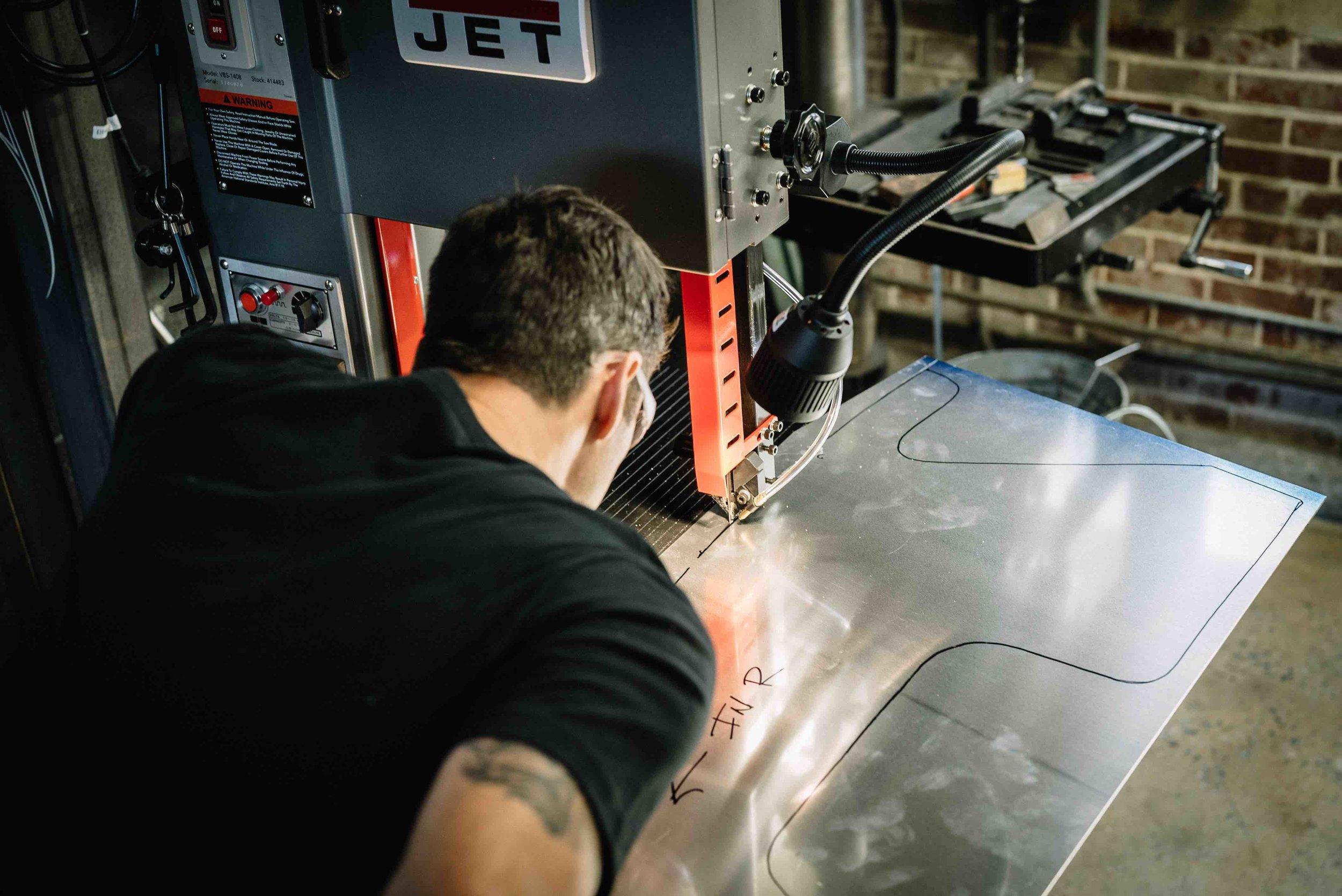 Cutting Aluminum Fenders DIY