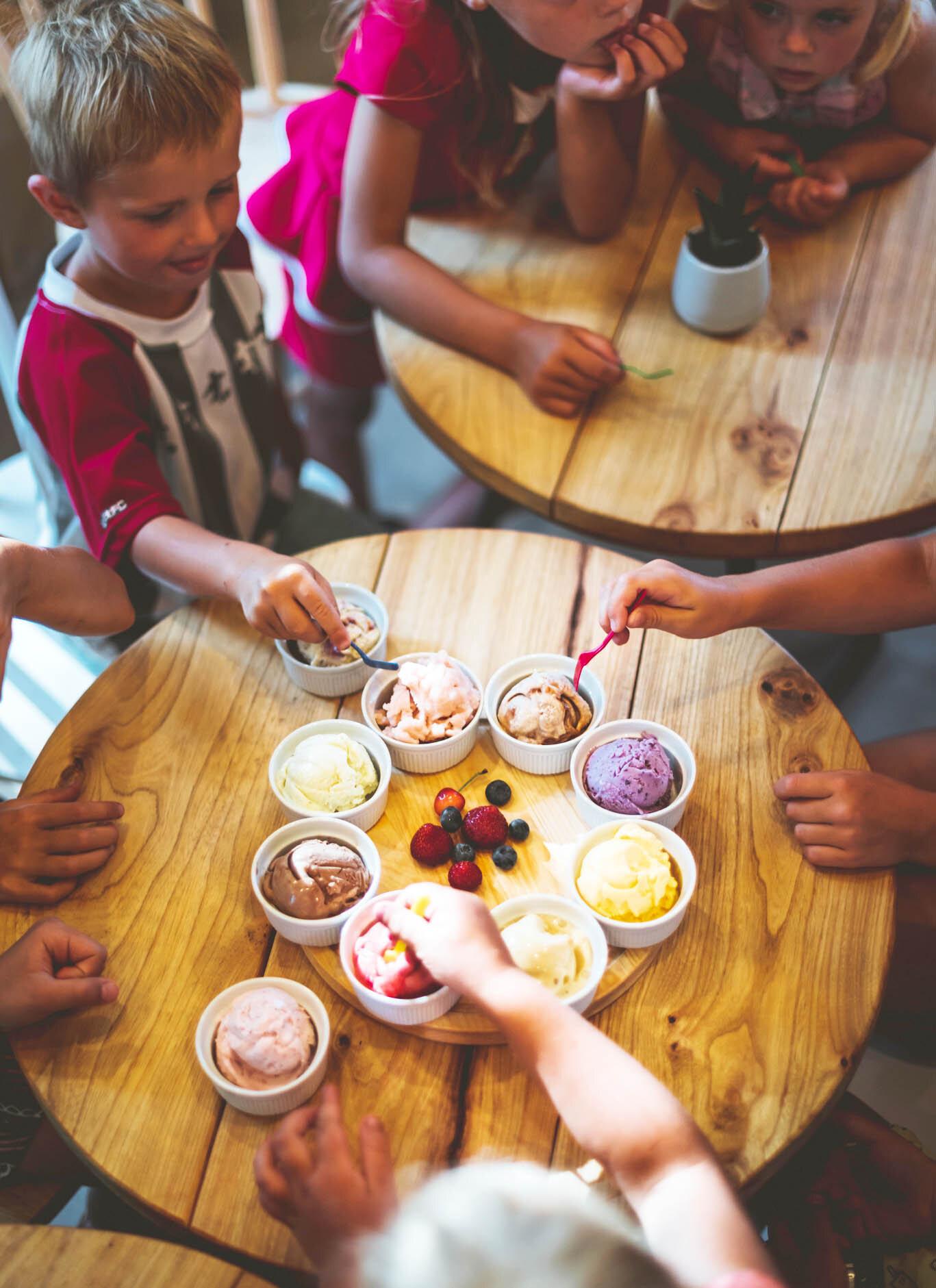Skolēnu ekskursijas - Saldējuma degustācija