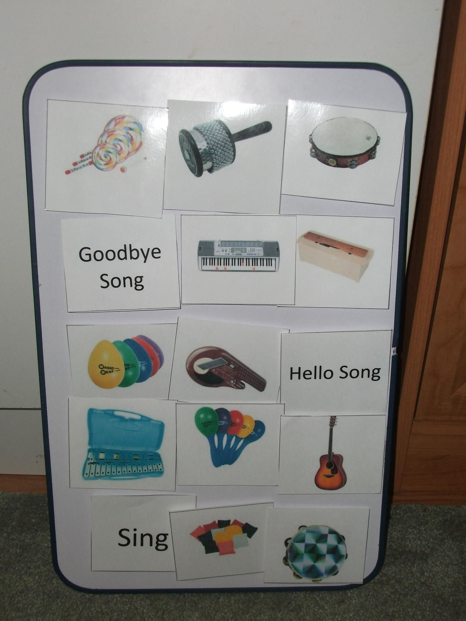 PEC Choice Board - We allow the child to decide the flow of the session to help with transitions.