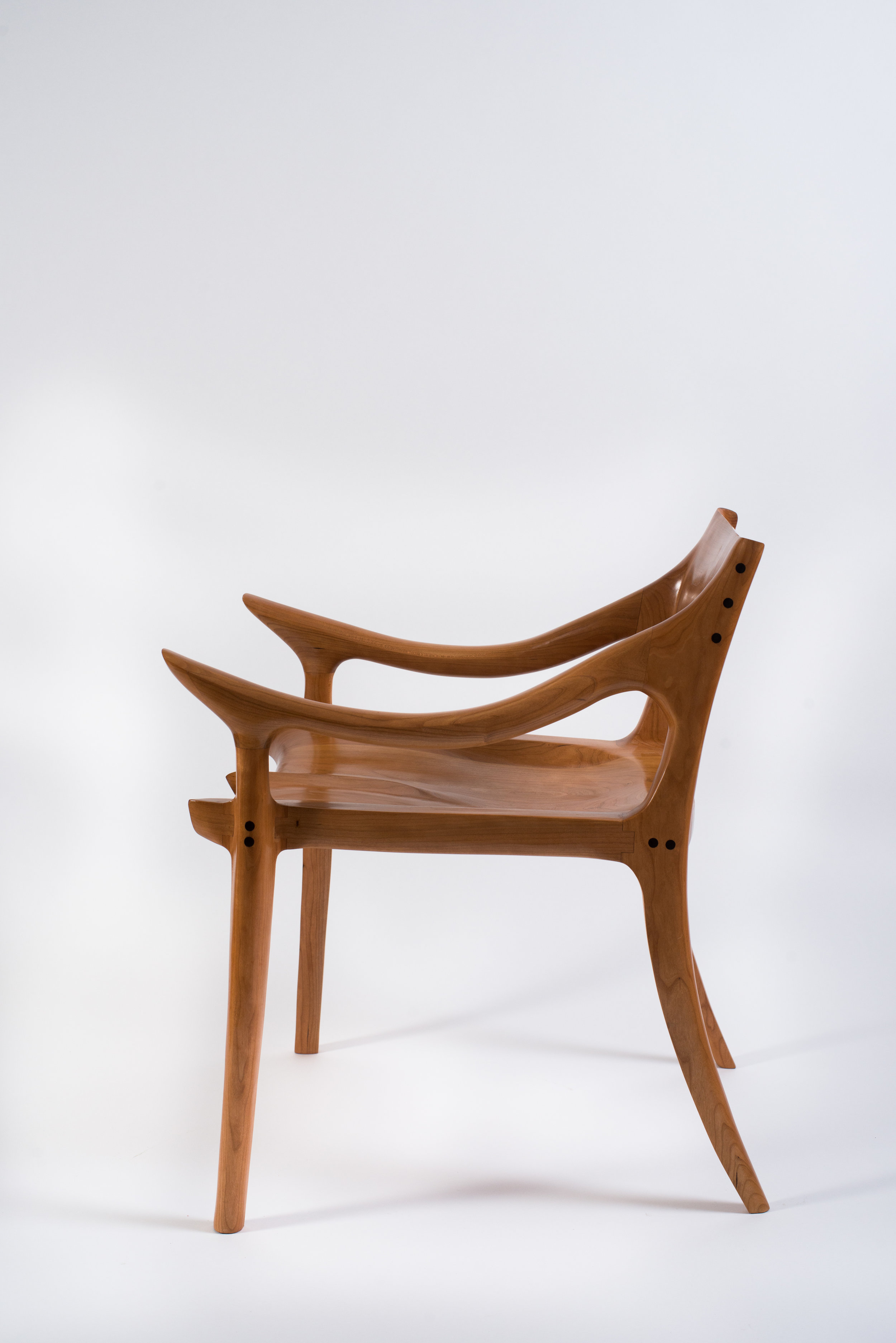 Cherry Low Back Chair