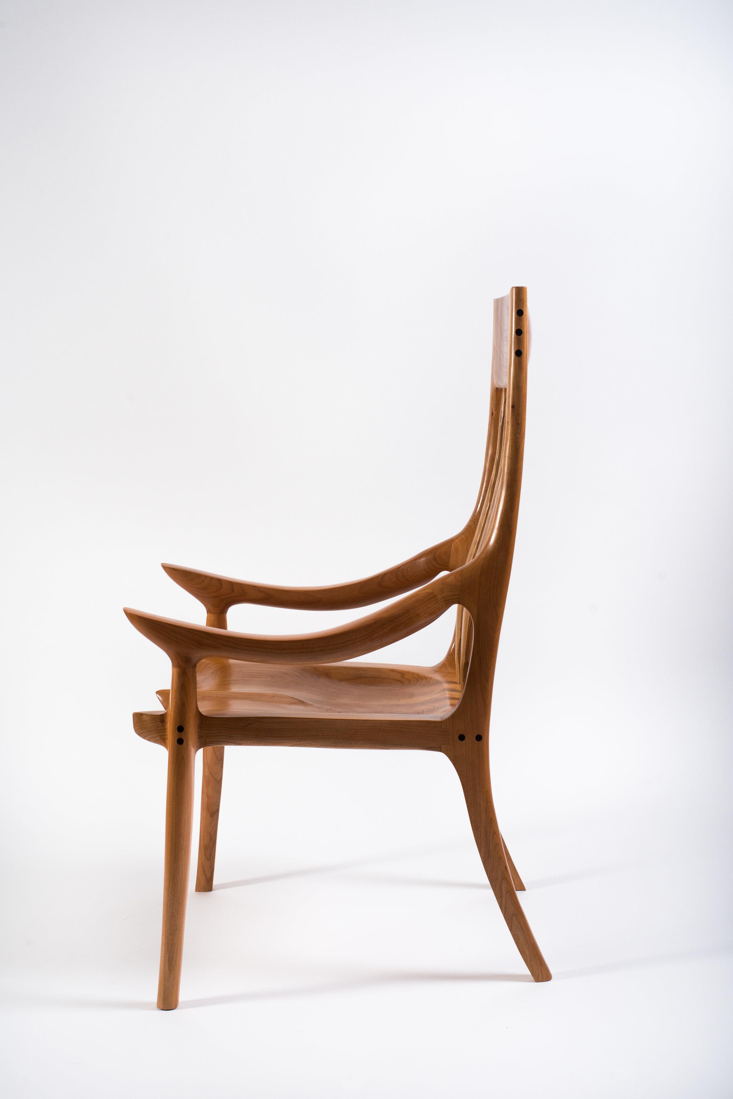 Cherry High Back Dining Chair