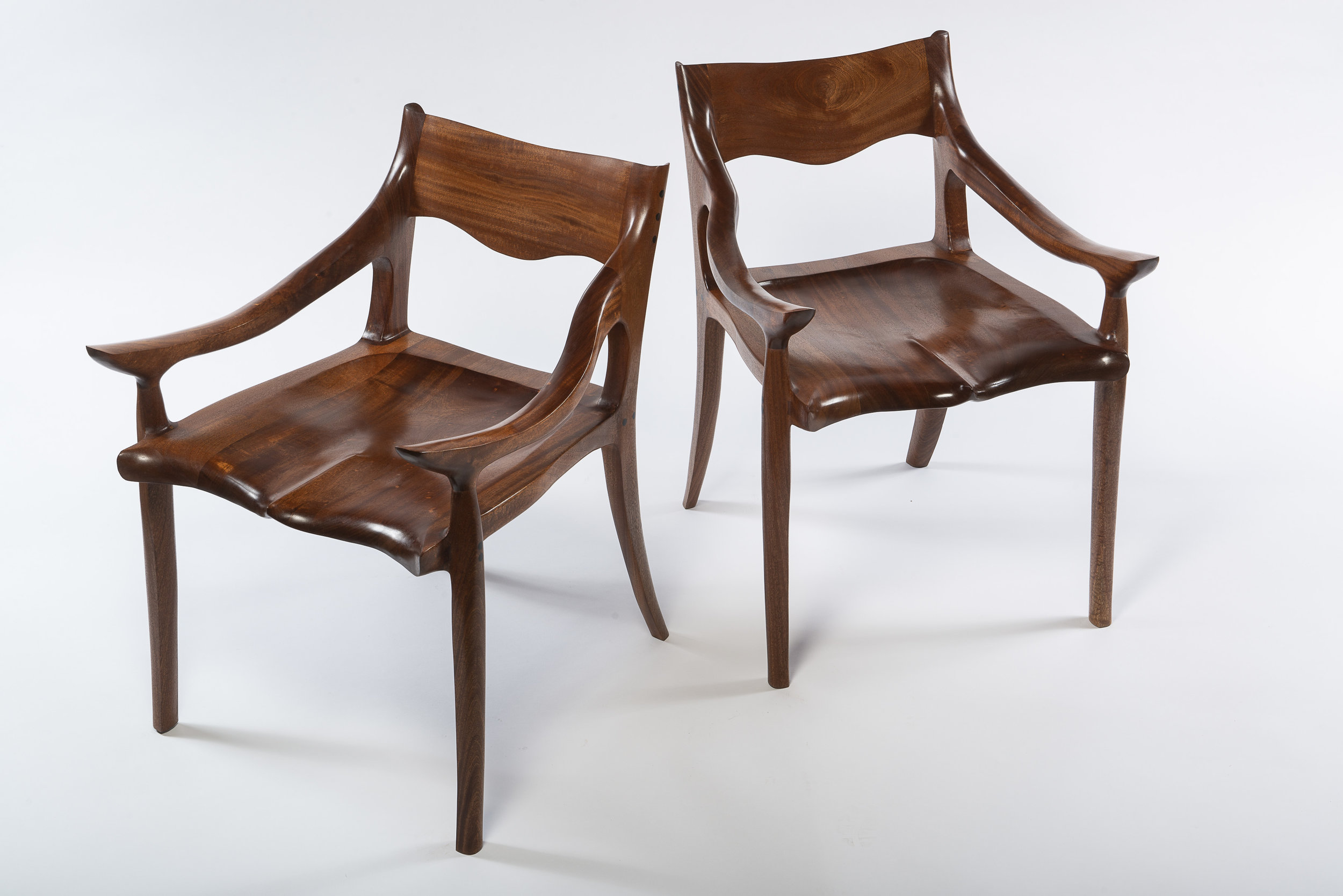 Sapele Low Back Chairs