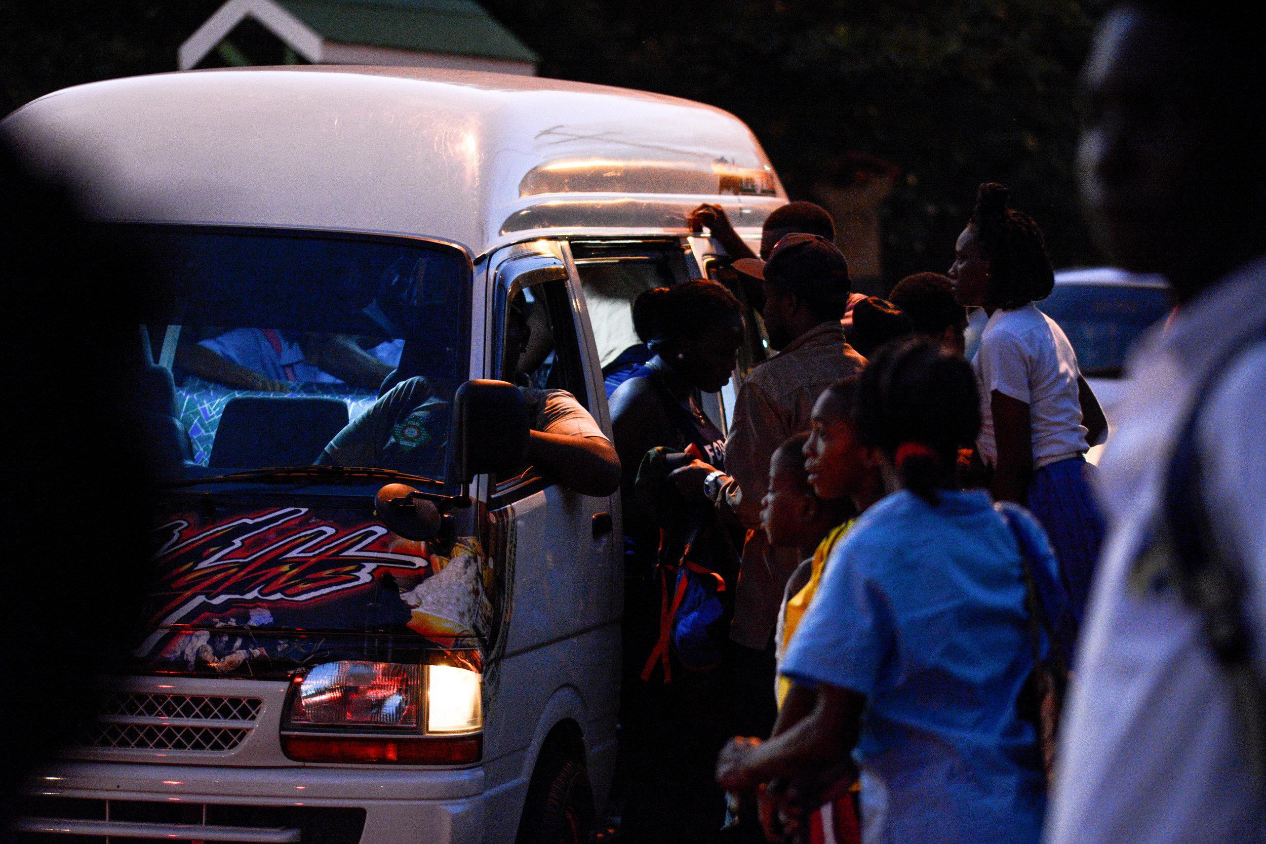 The Nighttime Rush for Vans.