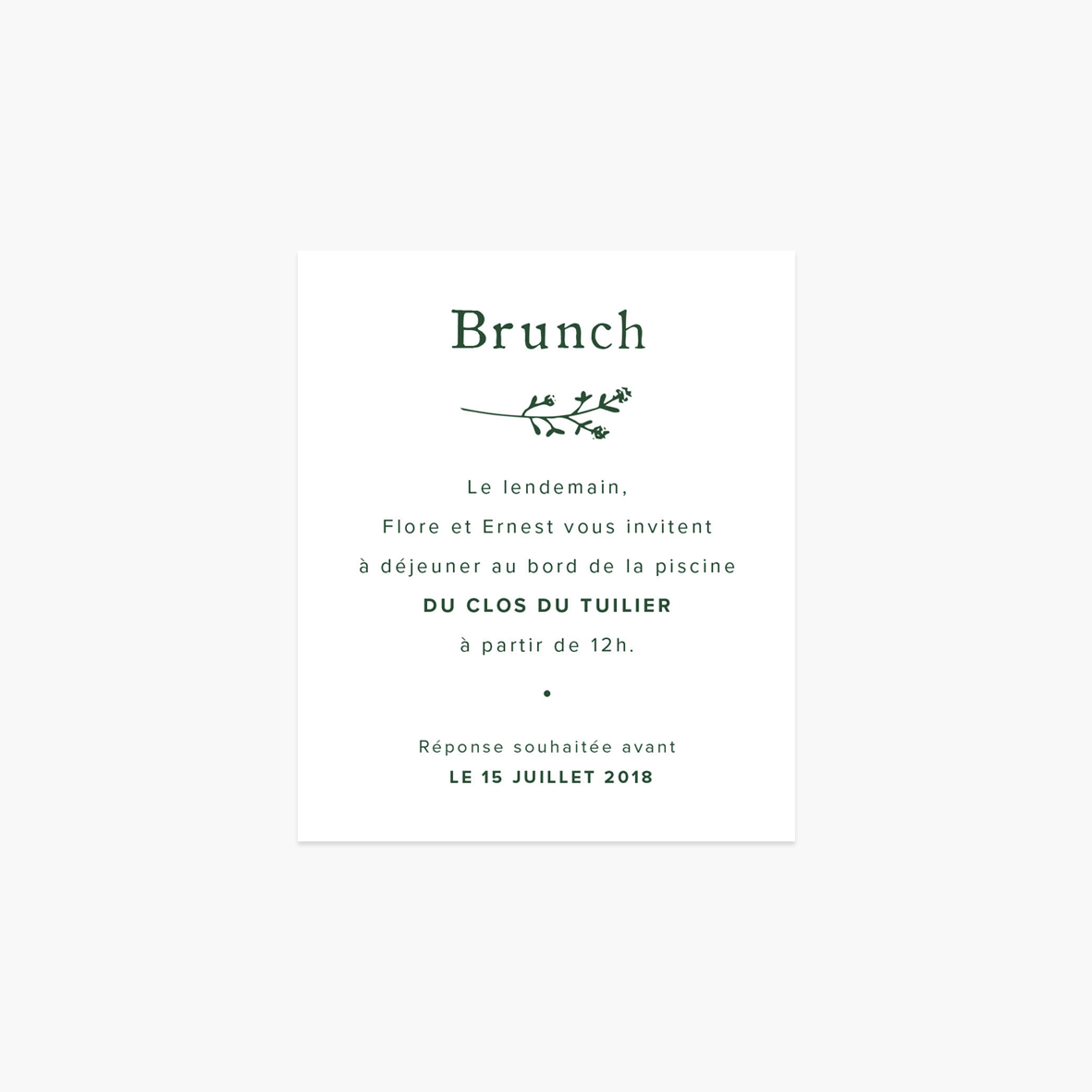 Carton brunch