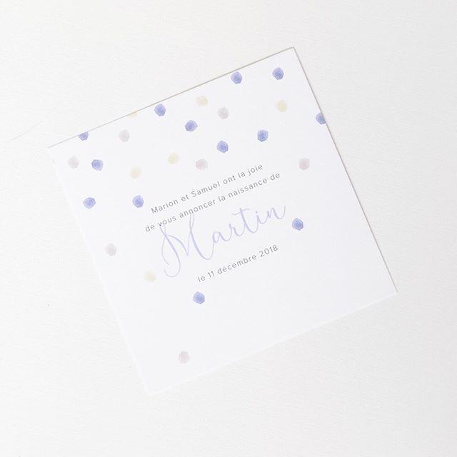 Faire part Confetti bleu pour célébrer la naissance du petit Martin ! 🎉 ⠀⠀⠀⠀⠀⠀⠀⠀⠀ #pruneetsibylle #fairepart #fairepartnaissance #bebe2019 #baby2019