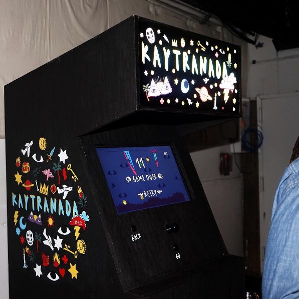 Commissioned Videogame Cabinet Kaytranada/XL Records
