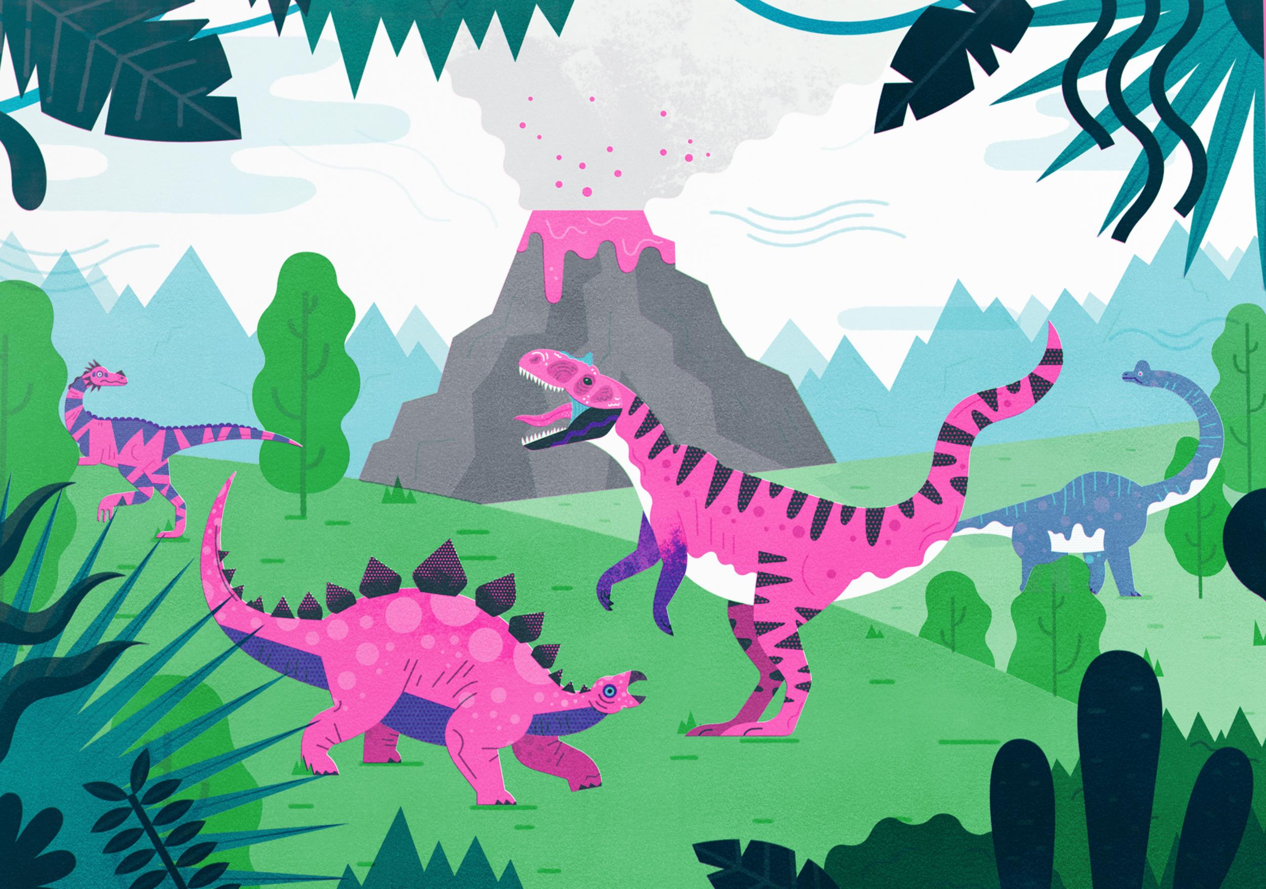 Dinosaur Volcano