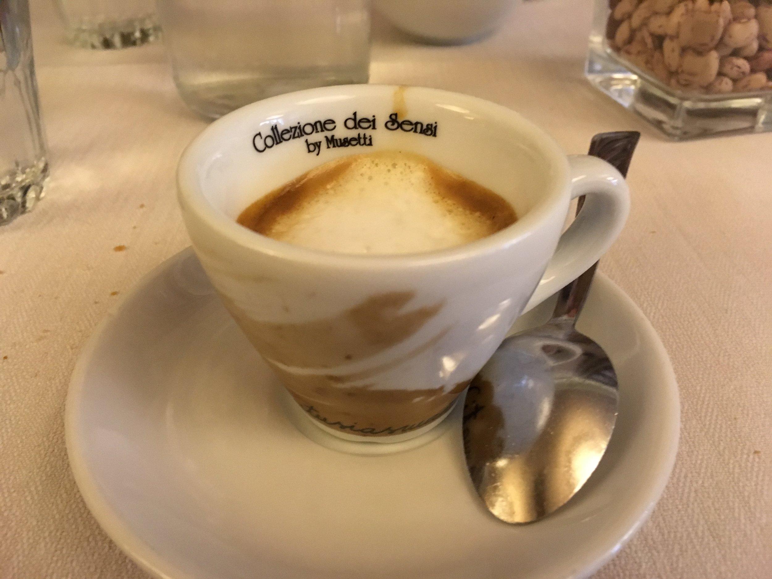 Caffè macchiato - espresso with just a touch of milk.