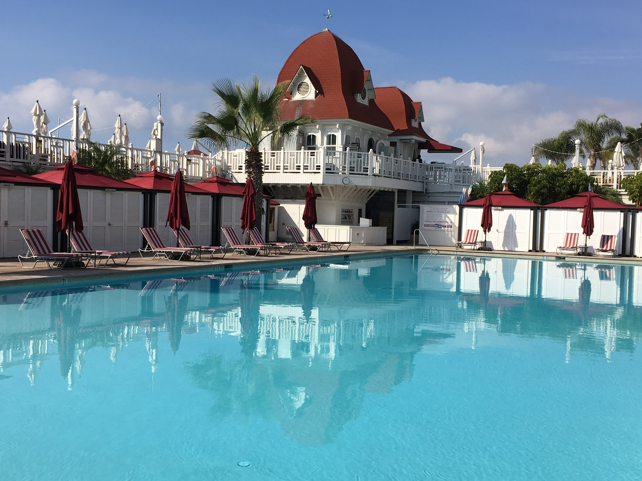 The main pool at the Hotel Del.
