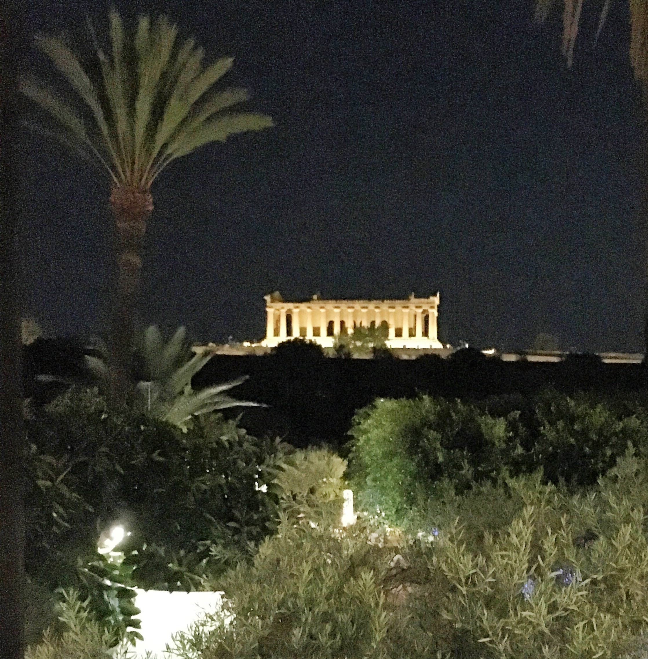 The Temple of Concordia in the Valley of the Temples from afar, September 2016.