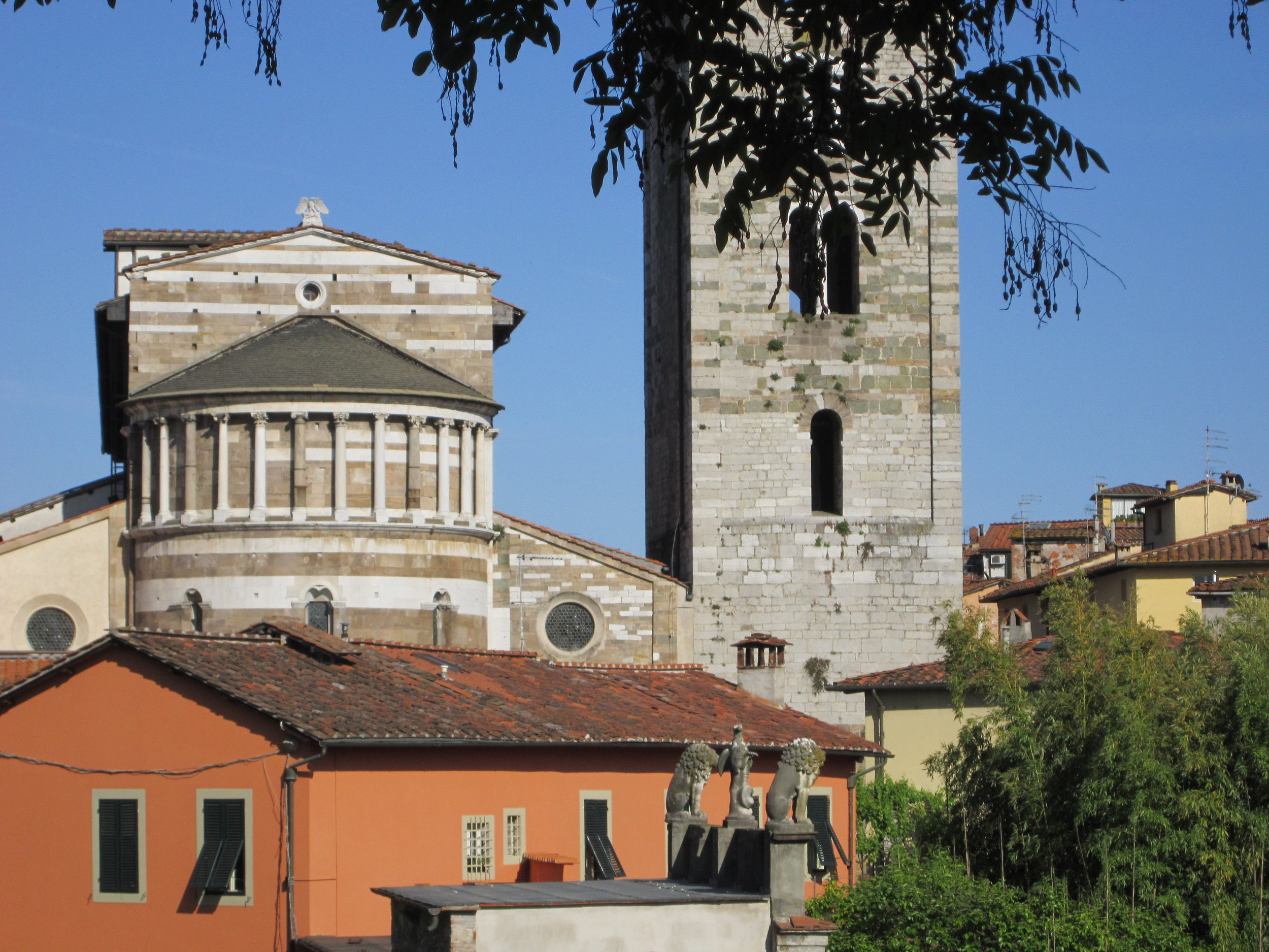 The back of the Basilica of San Frediano as seen from the wall