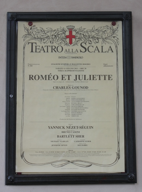 An opera poster - music is part of the culture in Italy.