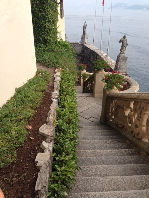 """Vanessa Redgrave skipped down this staircase in the movie """"A Month by the Lake"""" (1995). The villa has also been used in filming other movies, including """"Casino Royale"""" and """"Star Wars Episode II Attack of the Clones."""""""
