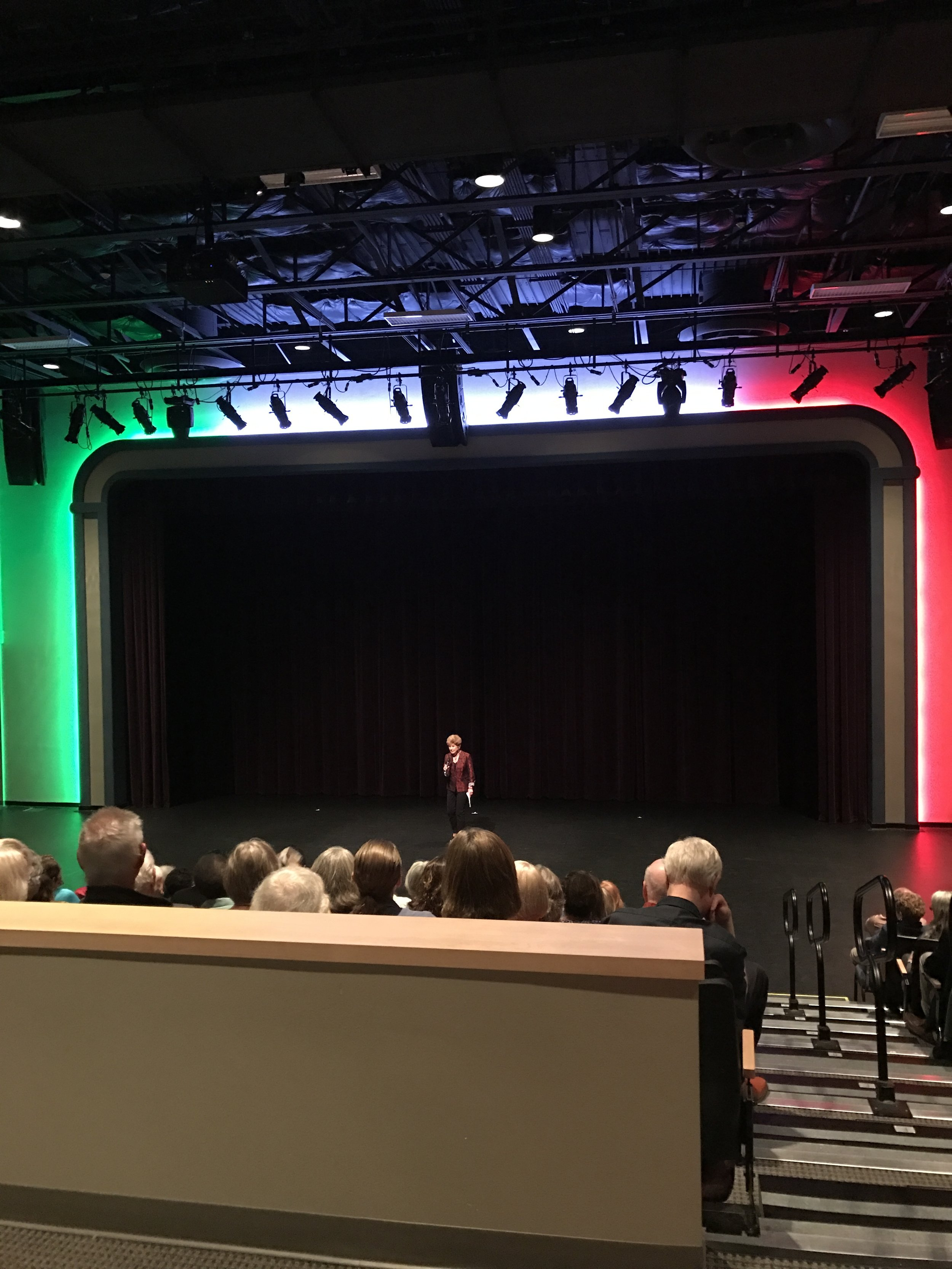 The colors of the Italian flag shine on the stage during this week's Italian Film Festival in Albuquerque.