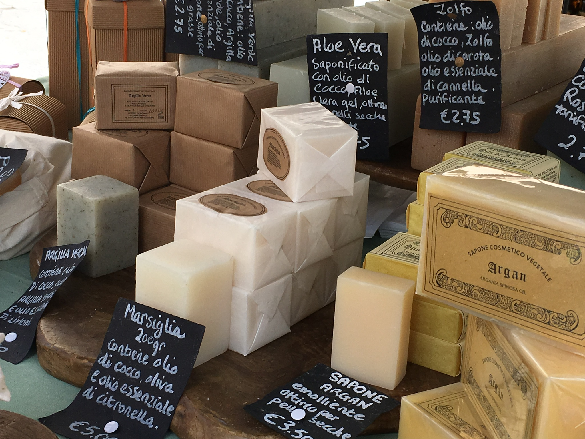 Hand-made scented soaps