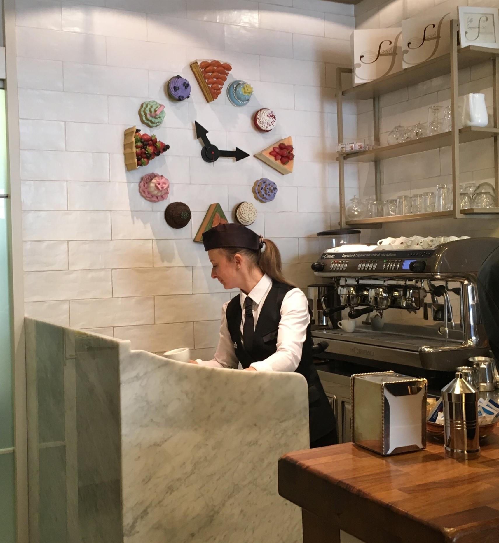 Hw fun is that clock over the coffee bar?