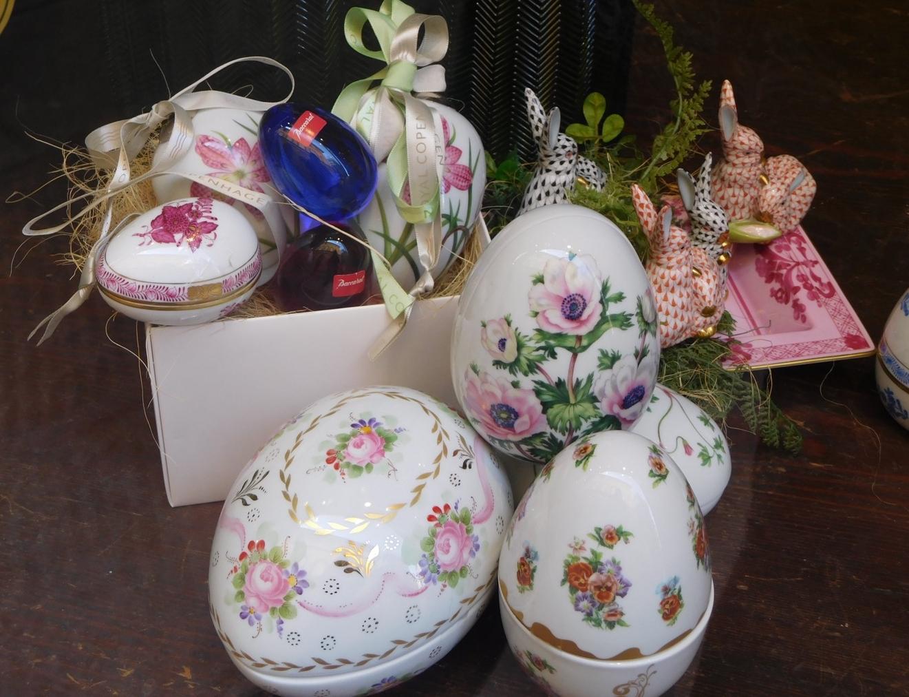 Porcelain eggs.