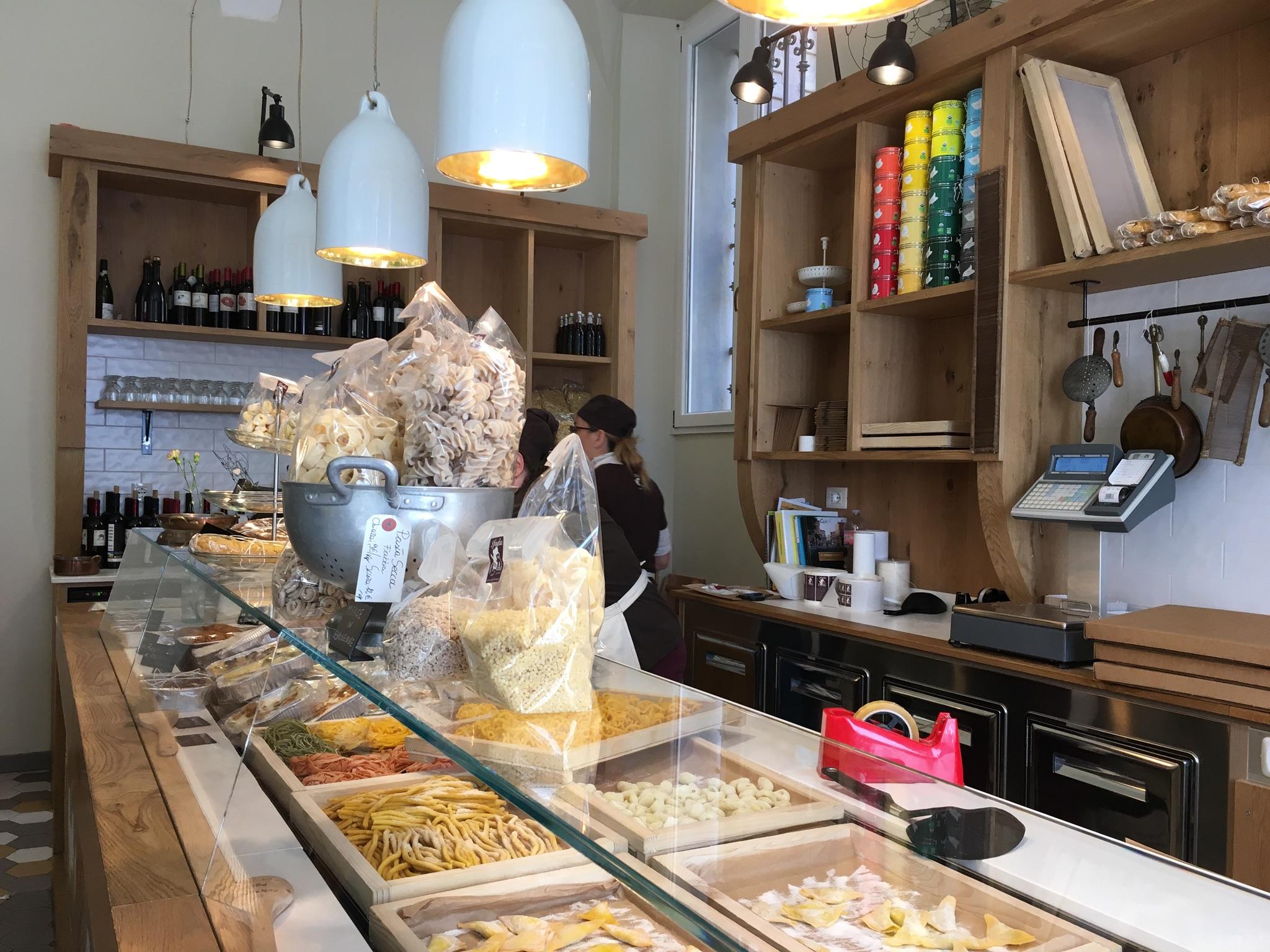 Takeout pasta counter at Sfoglia Rina