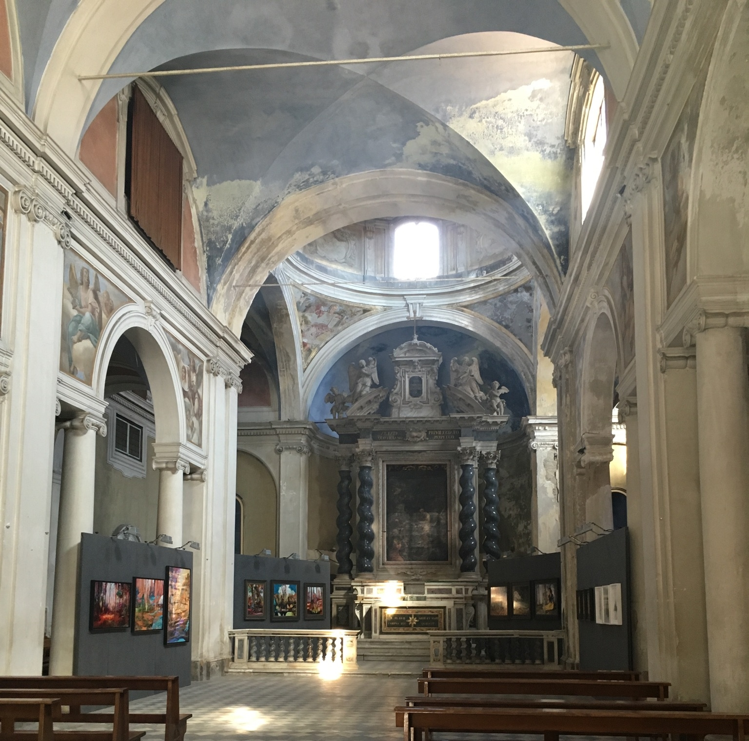 The main altar, the best preserved portion of the church.