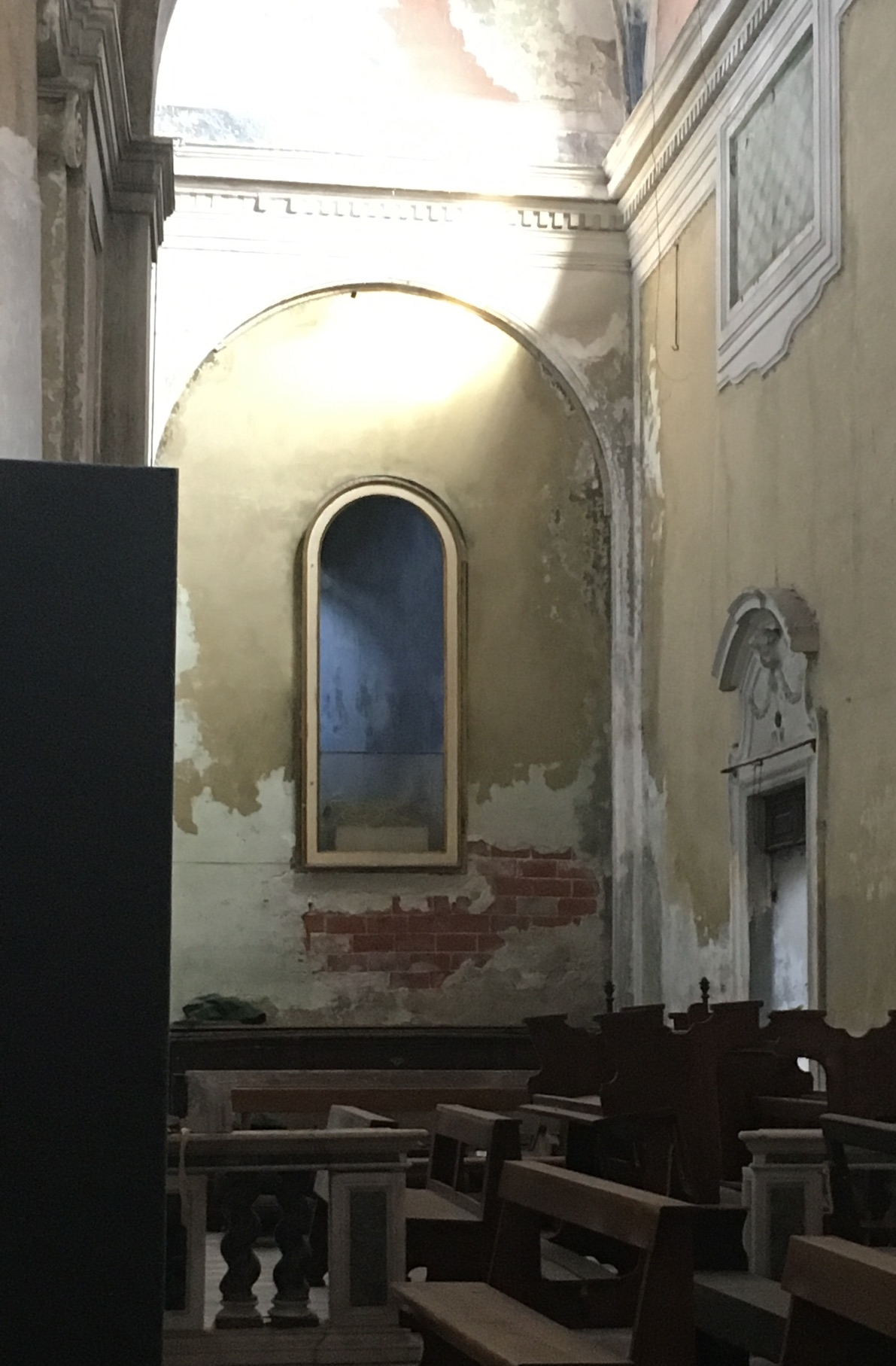 One of the side chapels of the church.
