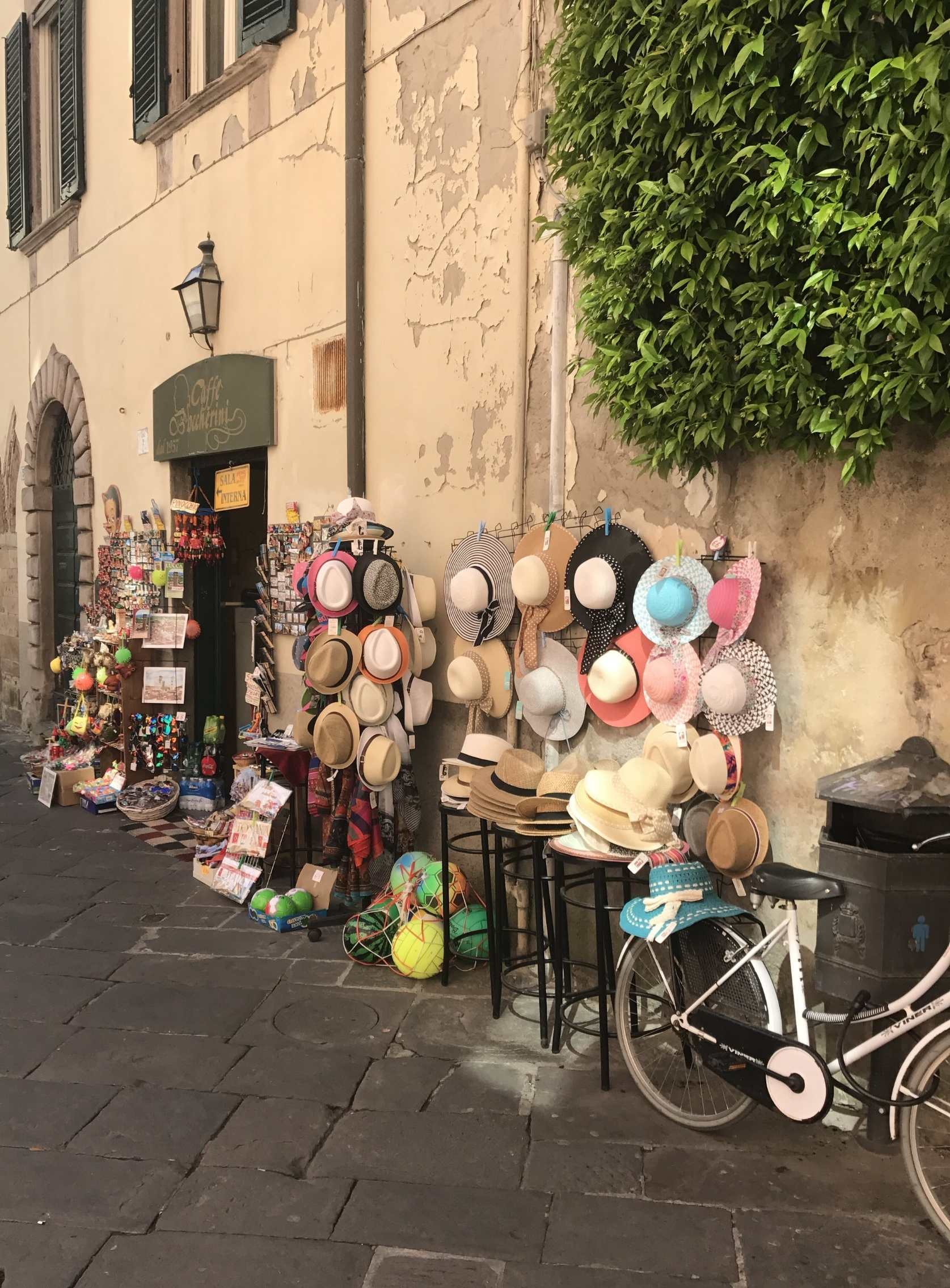 A shop display in Lucca.