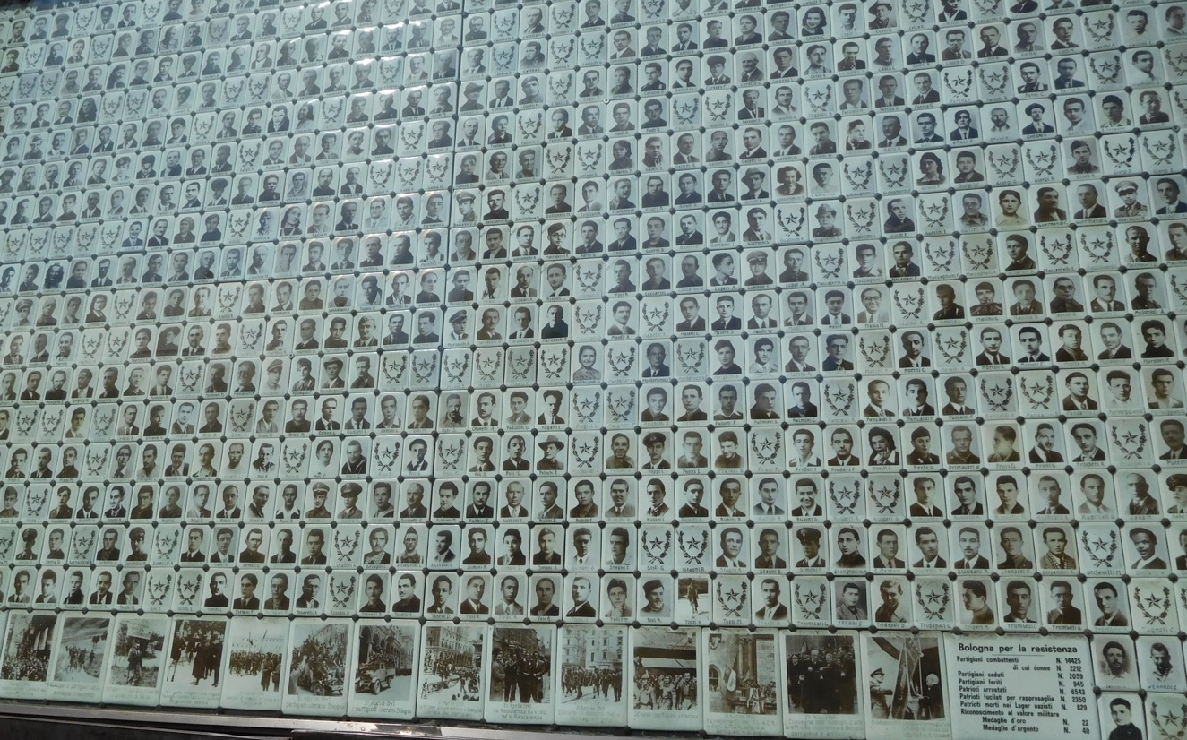 Wall of remembrance, Bologna.