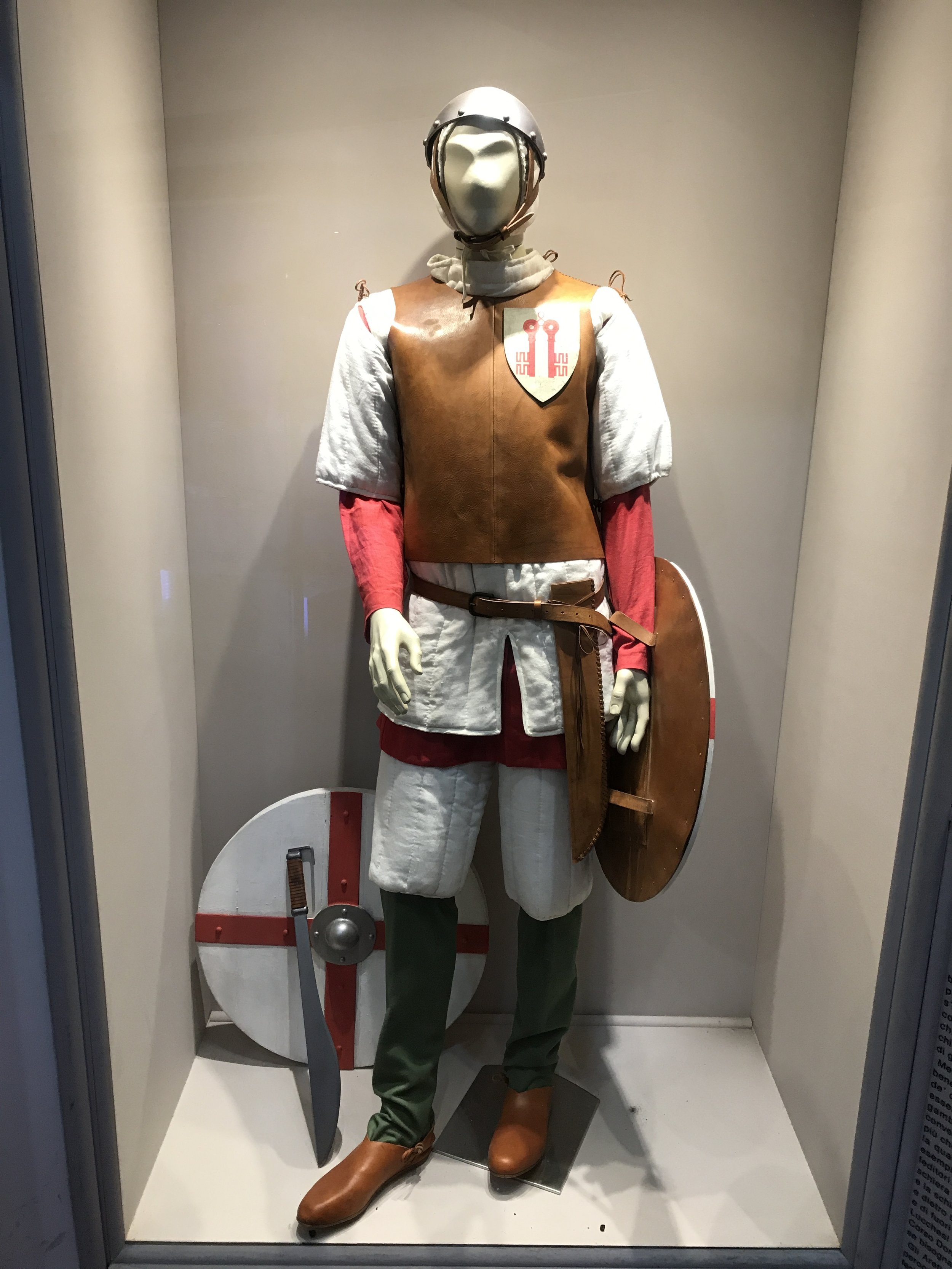 Reproductions such as this one of a soldier offer a glimpse into what life was like in Florence in the 14th century.