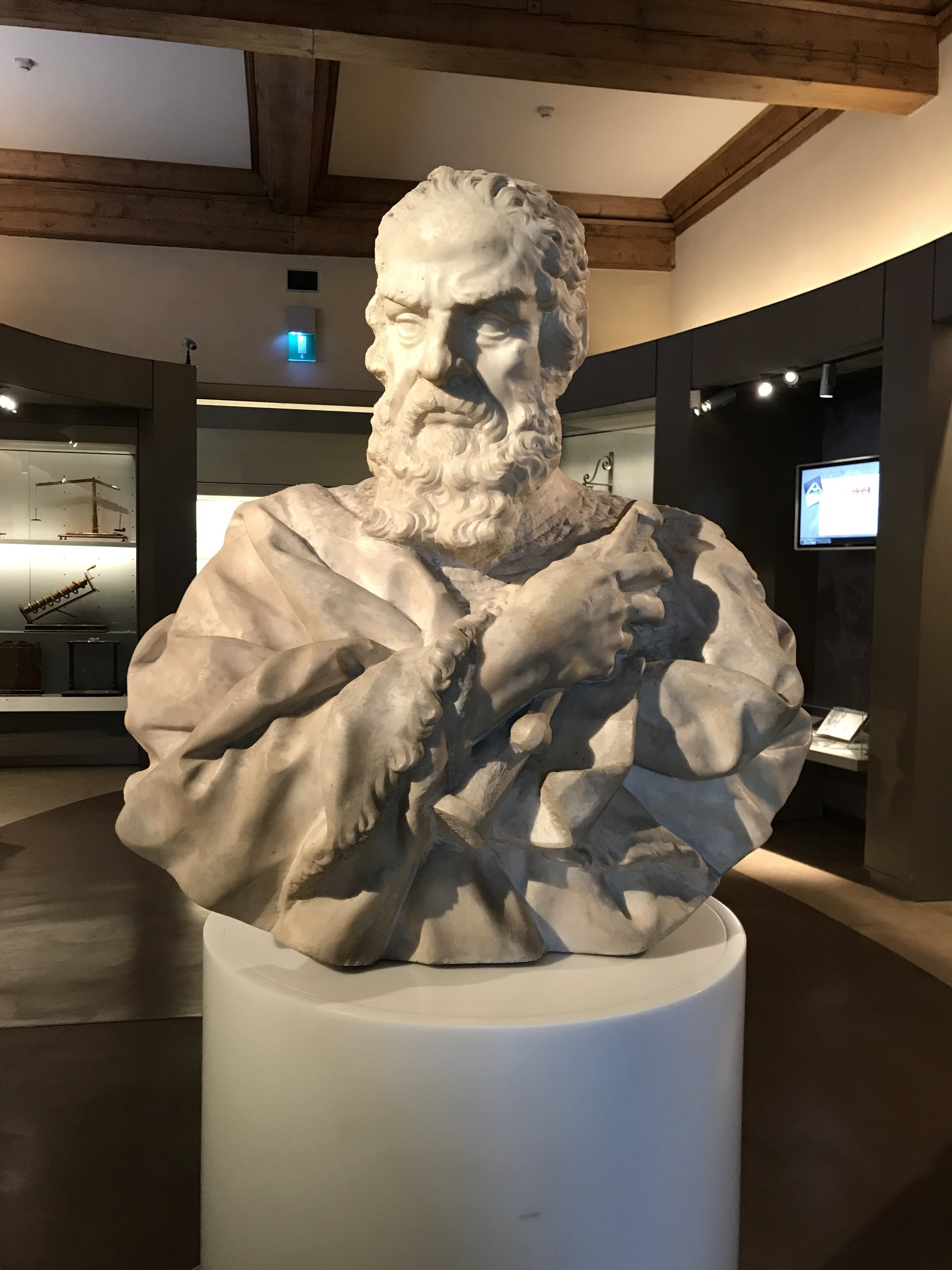 A bust of Galileo in the Florence museum that bears his name.