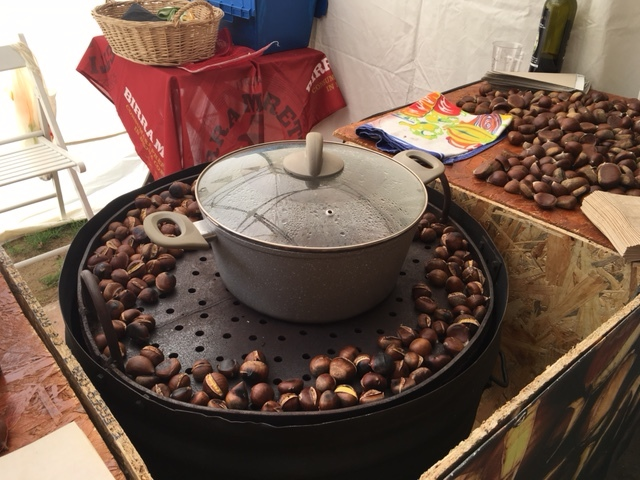 Chestnuts roasting in Lucca