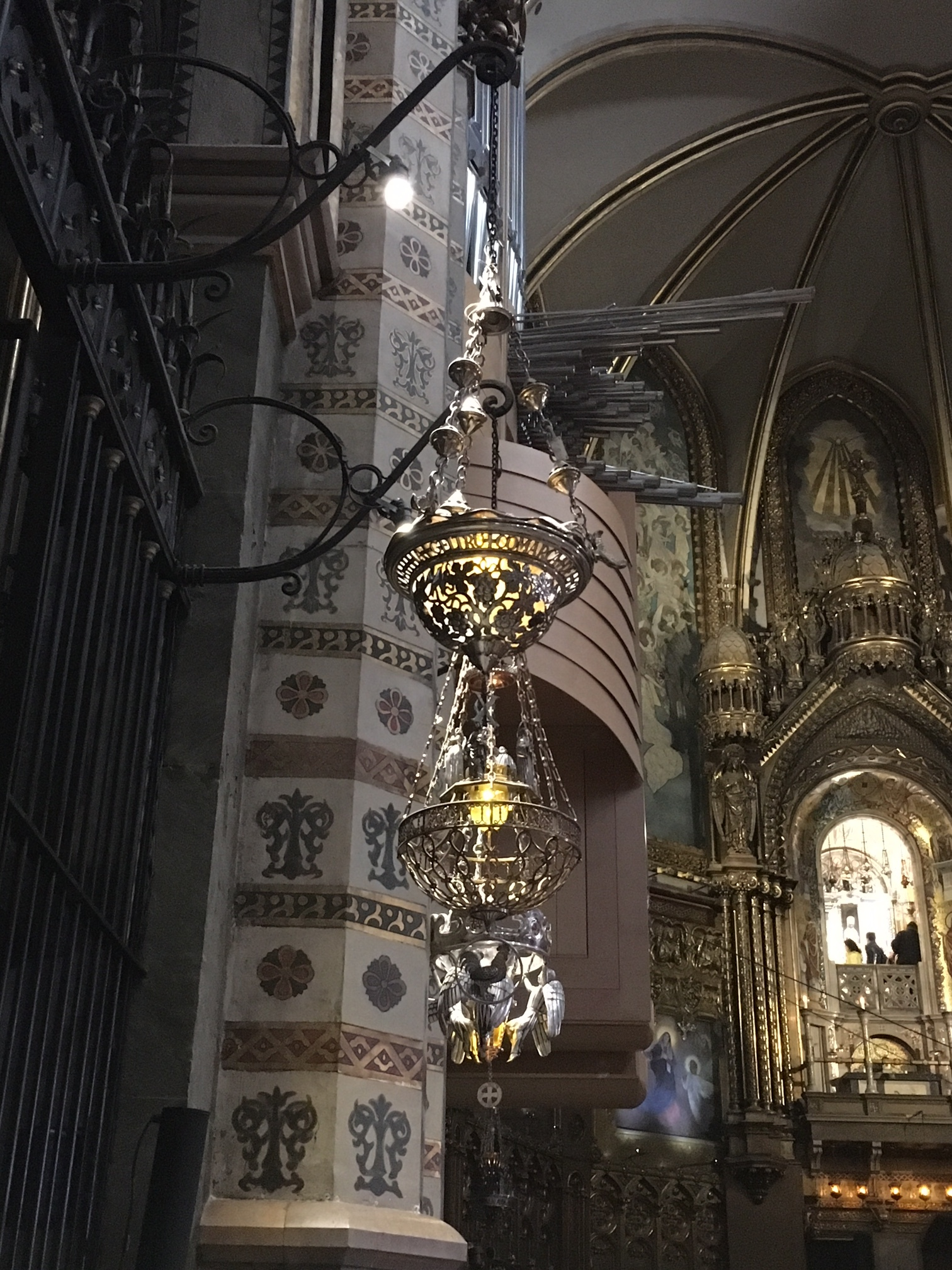 Just one of many beautiful lanterns in the basilica