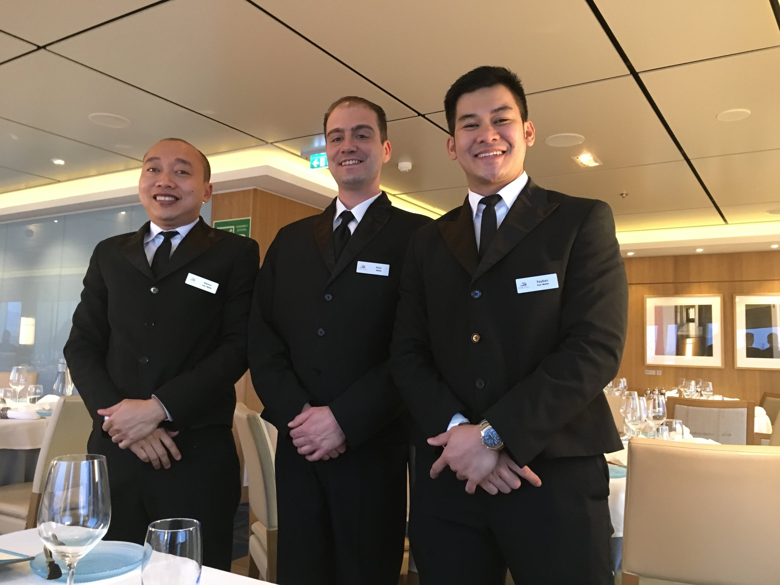 The best waitstaff at sea