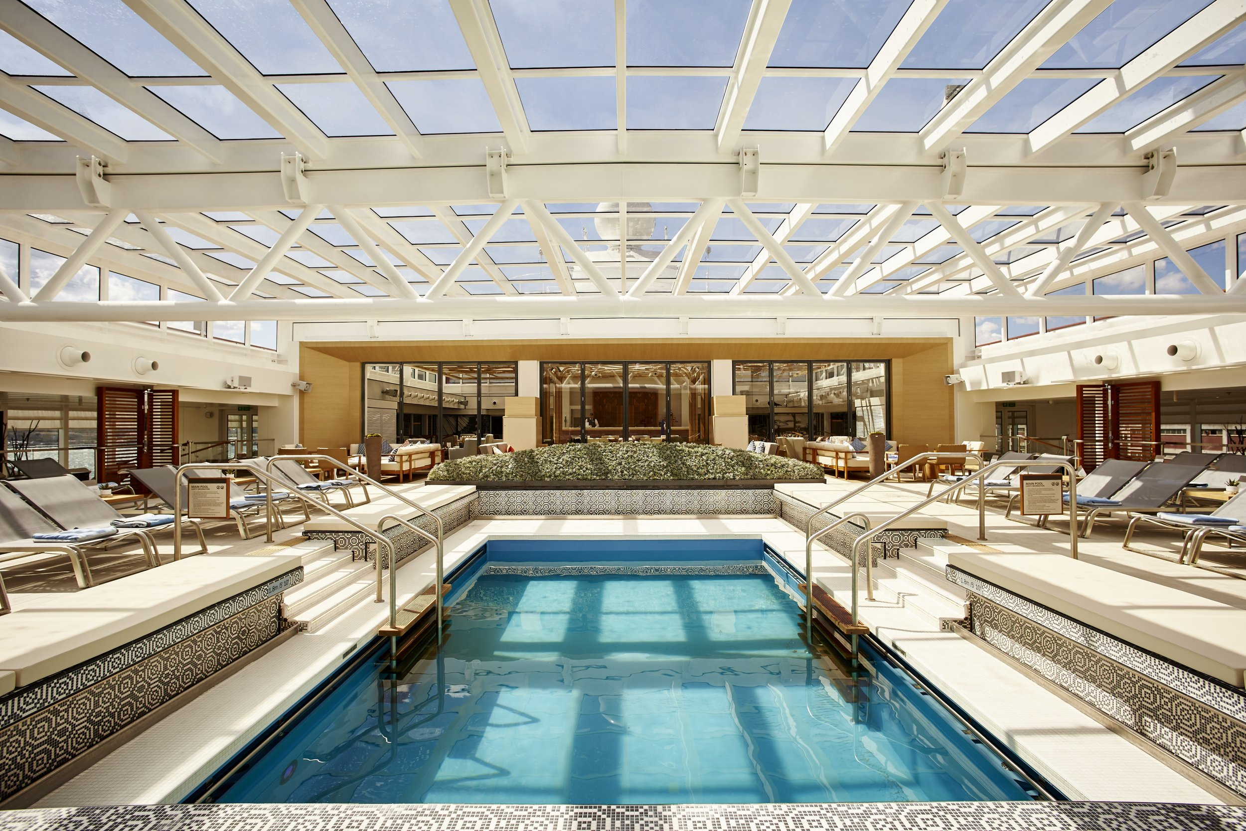 Main pool, shown with roof closed  (photo from Viking website)