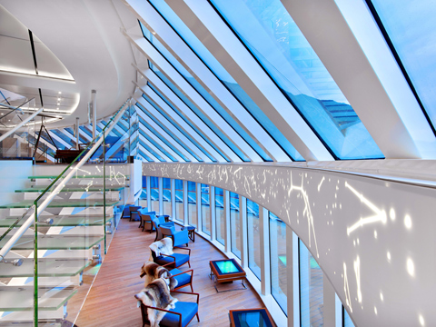 Explorer's Lounge with panoramic views (photo from Viking website)