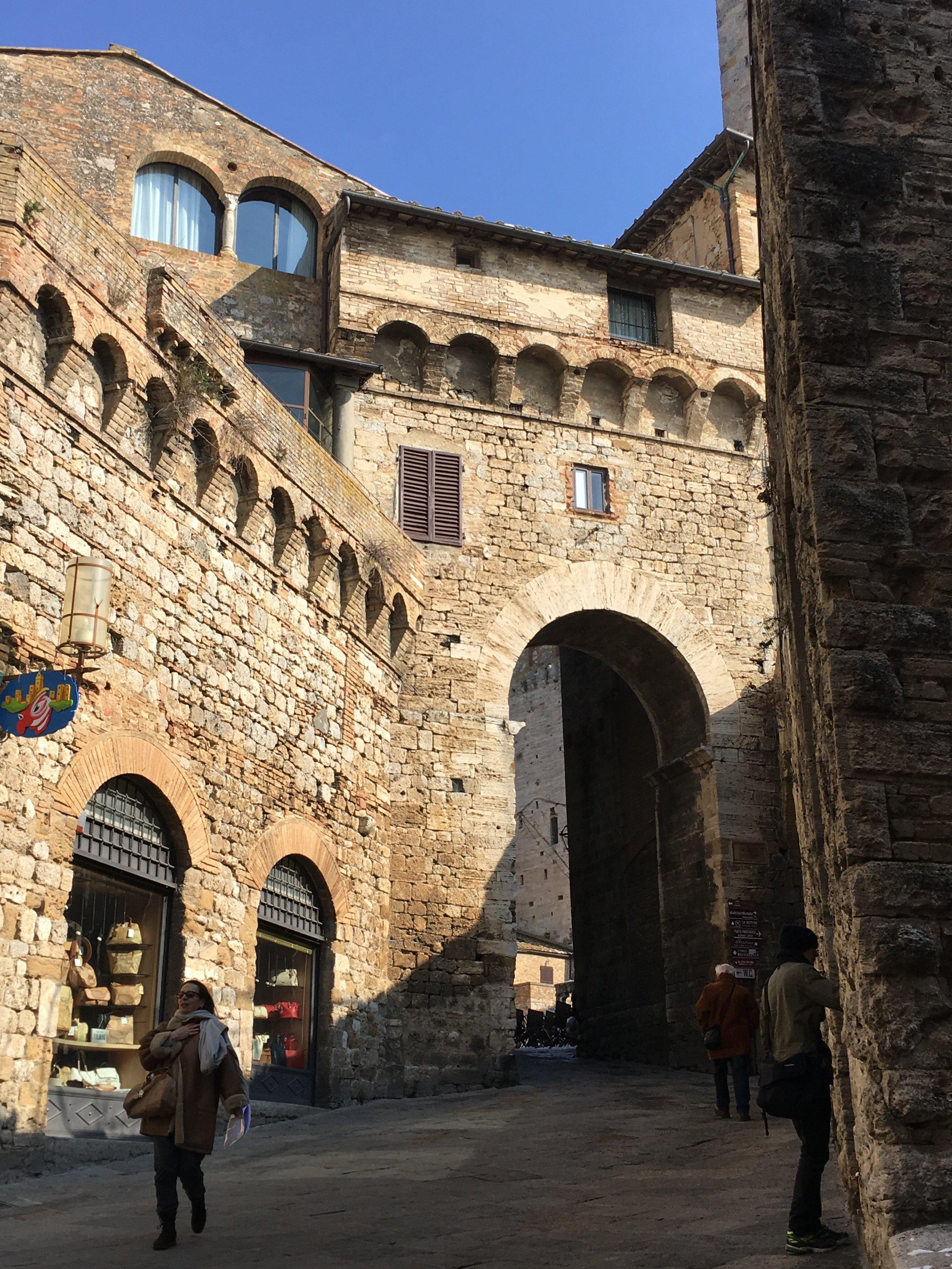 A Medieval street in San Gimignano