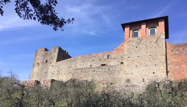 The Fortezza di Montecarlo (also known as the Rocca del Cerruglio) in Tuscany.