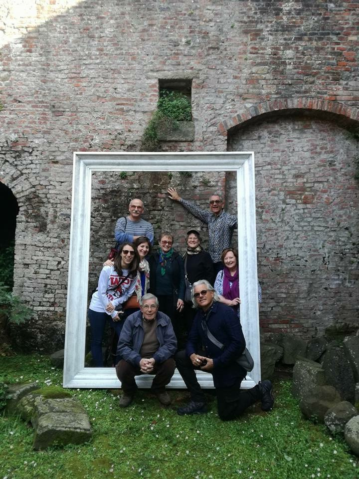 Our host and tour guide, Signor Menchini (front left) and my group from Lucca Italian School.