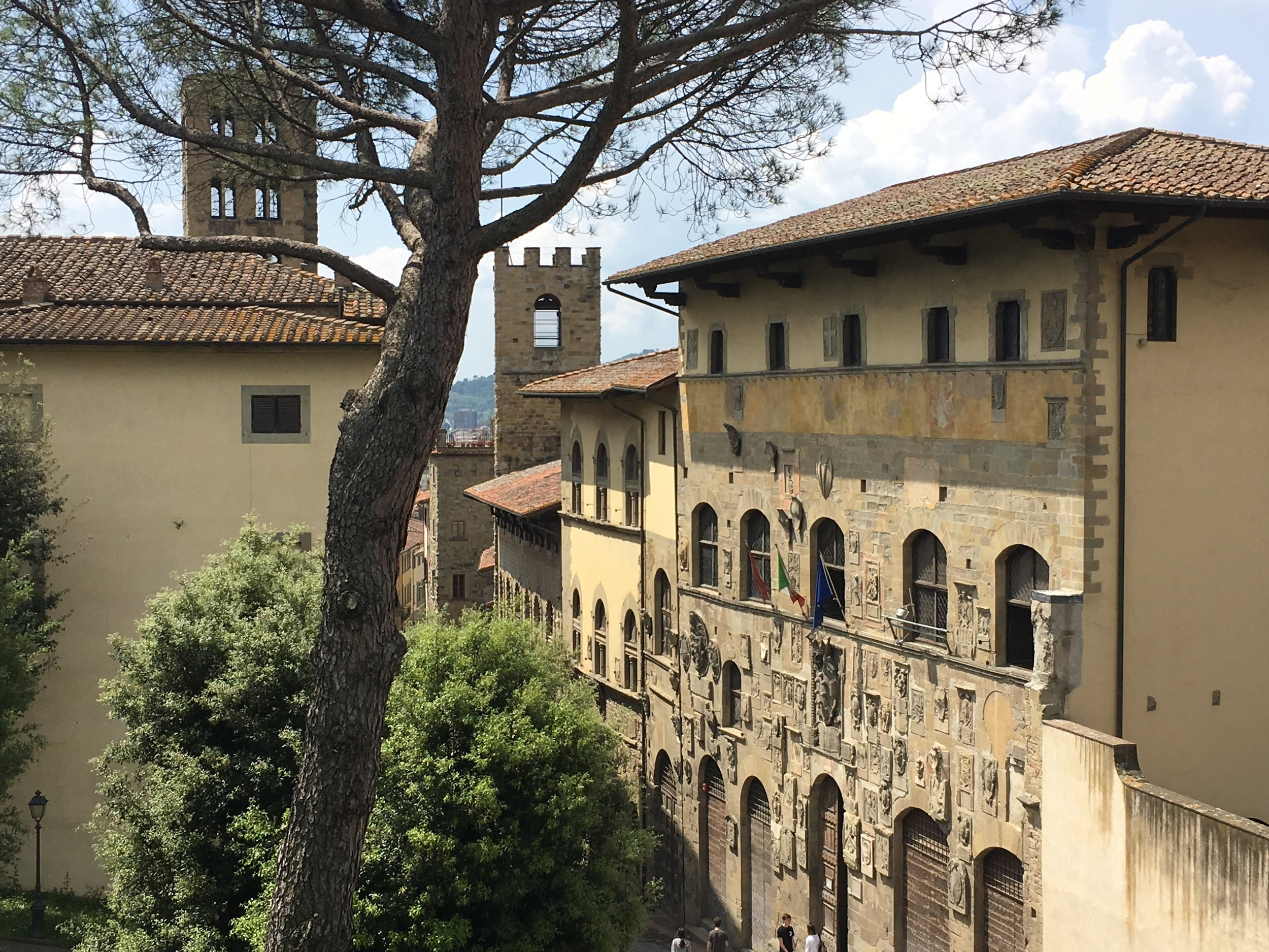 The Tuscan town of Arezzo